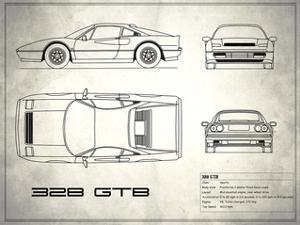 Ferrari 328-GTB White by Mark Rogan