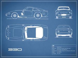 Ferrari 330-Blue by Mark Rogan