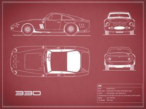 Ferrari 330-Maroon by Mark Rogan