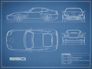 Ferrari 550-Blue by Mark Rogan