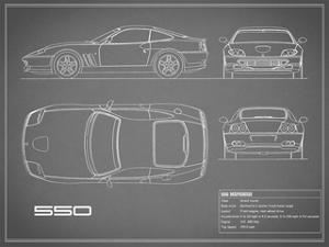 Ferrari 550-Grey by Mark Rogan