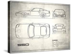 Ferrari 550 White by Mark Rogan
