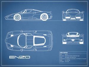 Ferrari Enzo-Blue by Mark Rogan