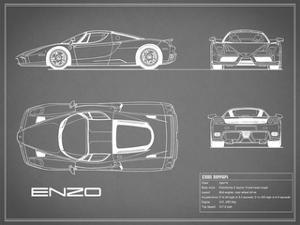 Ferrari Enzo-Grey by Mark Rogan