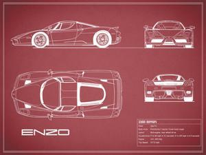 Ferrari Enzo-Maroon by Mark Rogan