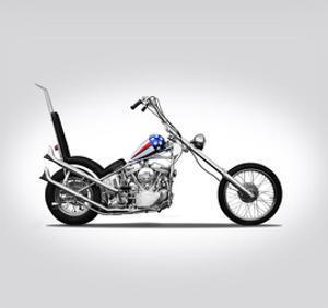 Harley Davidson Captain Americ by Mark Rogan