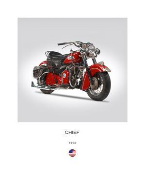 Indian Chief 1953 by Mark Rogan