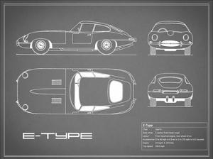 Jaguar E-Type-Grey by Mark Rogan