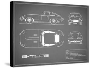 Jaguar E-Type-Grey by Mark Rogan