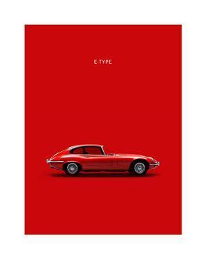 Jaguar E-Type Red by Mark Rogan