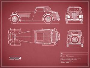 Jaguar SS1-Maroon by Mark Rogan