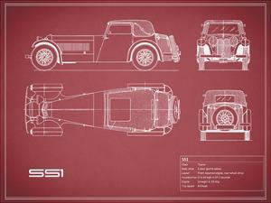 Jaguar SS1-Maroon by Mark Rogan