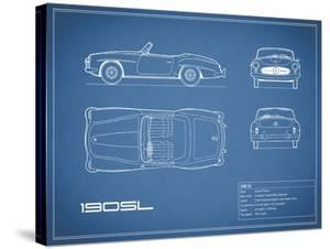 Mercedes 190-SL-Blue by Mark Rogan