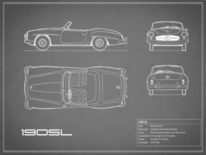 Mercedes 190-SL-Grey by Mark Rogan