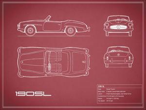 Mercedes 190-SL-Maroon by Mark Rogan