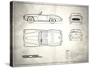 Mercedes 190-SL White by Mark Rogan