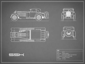 Mercedes SSK-Grey by Mark Rogan