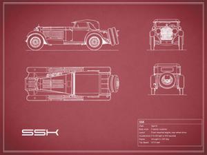 Mercedes SSK-Maroon by Mark Rogan