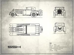 Mercedes SSK White by Mark Rogan