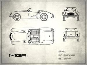 MG MGA White by Mark Rogan
