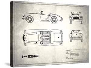 MG MGA White by Mark Rogan