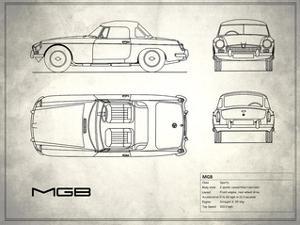 MG MGB White by Mark Rogan