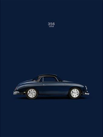 Porsche 356 1958 Blue by Mark Rogan