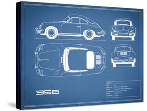 Porsche 356C-Blue by Mark Rogan