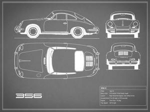Porsche 356C-Grey by Mark Rogan