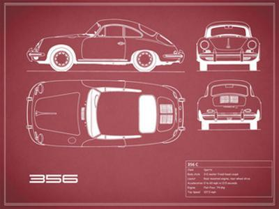 Porsche 356C-Maroon by Mark Rogan