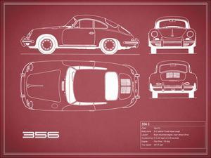 Porsche 356C-Maroon by Mark Rogan