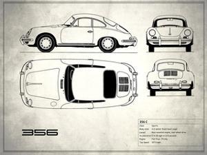 Porsche 356C White by Mark Rogan