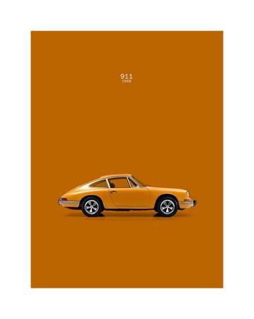Porsche 911 1968 Orange By Mark Rogan