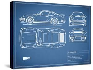 Porsche 911-Turbo 1977 Blue by Mark Rogan