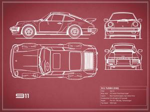 Porsche 911-Turbo 1977  Red by Mark Rogan