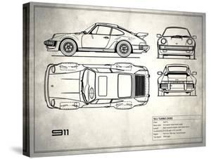Porsche 911-Turbo 1977 White by Mark Rogan