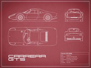 Porsche Carrera GTS-Maroon by Mark Rogan