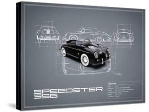 Porsche Speedster 1959 White by Mark Rogan
