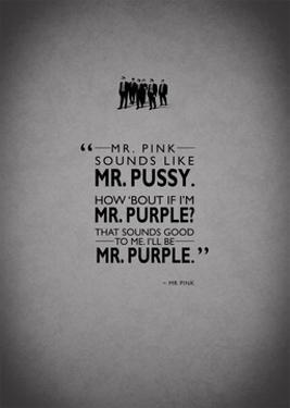 Reservoir Dogs, Mr. Pink by Mark Rogan