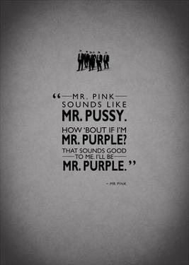 Reservoir Dogs, Mr. Pink by Mark Rogan