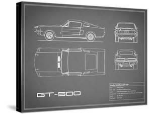 Shelby Mustang GT500-Grey by Mark Rogan