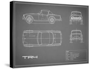 Triumph TR4-Grey by Mark Rogan