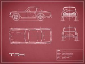 Triumph TR4-Maroon by Mark Rogan