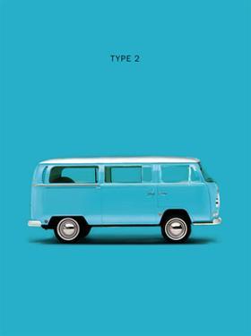 VW Type 2 Sky Blue by Mark Rogan