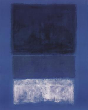 No 14. White and Greens in Blue by Mark Rothko