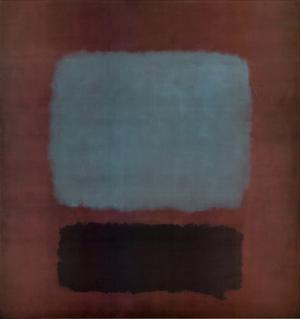 No. 37 / No. 19 (Slate Blue and Brown on Plum), 1958 by Mark Rothko