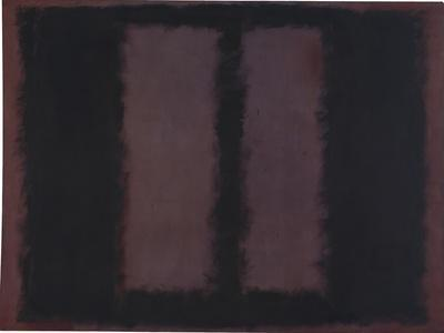 "Sketch for ""Mural No.6"" (Two Openings in Black Over Wine) {Black on Maroon} [Seagram Mural Sketch]"