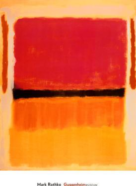 Untitled (Black, Orange, Yellow on White and Red), 1949 by Mark Rothko