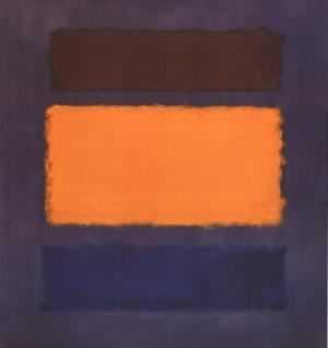 Untitled, Brown and Orange on Maroon by Mark Rothko
