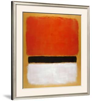 Untitled (Red, Black, White on Yellow), 1955 by Mark Rothko